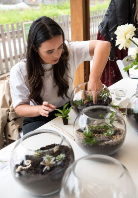 DU'IT Terrarium Making Class and Spring Lunch photo 4